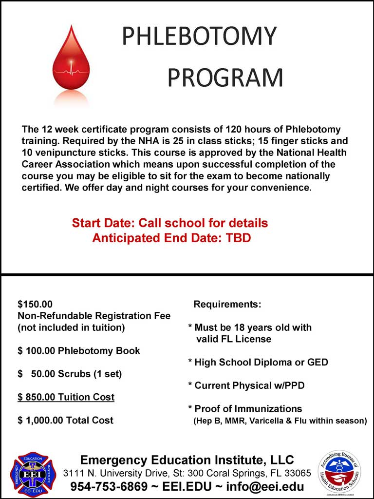 PHLEBOTOMY/EKG PROGRAM | eei
